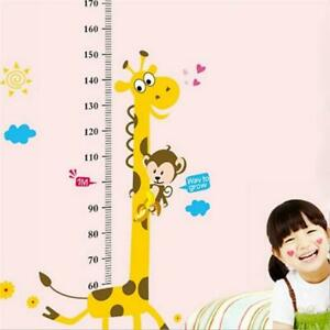 Kids Giraffe Height Chart Wall Sticker Kids Decor Removable Wall Art Decals JO
