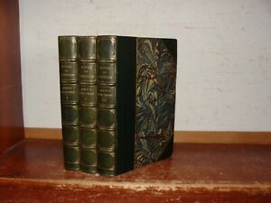 Old DIVINE COMEDY OF DANTE ALIGHIERI Leather Book Set 1895 POEMS INFERNO HELL ++
