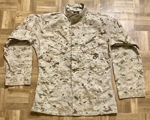 USMC MARINES MCCUU COMBAT DESERT MARPAT BLOUSE COAT TOP LARGE LONG VGC