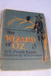Rare Antique Collectable Book The Wizard of Oz L. Frank Baum pictures by W.W. De