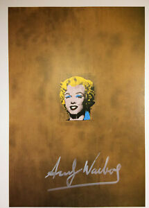 ANDY WARHOL SIGNED * GOLD MARILYN MONROE * PRINT