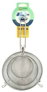 3 Pcs Stainless Steel Multi-purpose Food Strainer Mesh Set,4/5.5/7 Inches