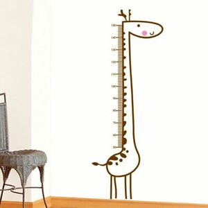 Removable Decal Wall Sticker Giraffe Height Measure Chart For Kids Baby Rooms
