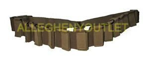 US Military USMC Tactical Tailor 12 Round 40mm Bandolier Belt Coyote Brown NIB