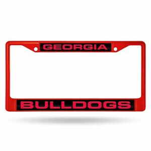 Georgia Bulldogs NCAA Red Painted Metal Laser Cut License Plate Frame
