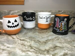 Large Halloween, Fall Coffee Mug. Choose Spooky, Witch Hats, Trick Or Treat. New