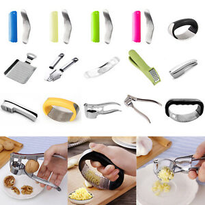 Garlic Press Chopper Slicer Hand Presser Grinder Crusher Practical Home Kitchen
