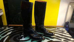 T. Eaton Vintage Horse Riding Boots Womens Size 8 Leather Good Cond England Rare