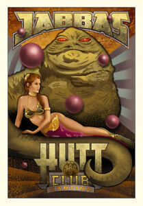Star Wars Jabba the Hutt and Princess Leia