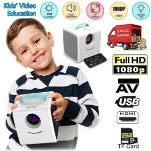 Full HD 1080P Mini Projector LED Multimedia Home Theater LCD Kids Video H9D8