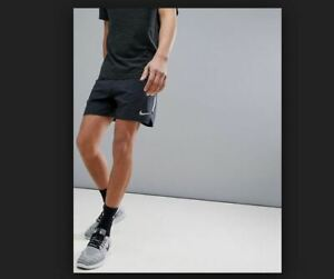 NEW MENS S M NIKE FLEX STRIDE BLACK SILVER RUNNING SHORTS 2in1 7