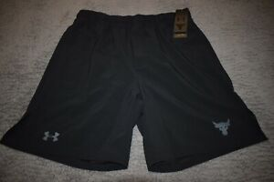 Under Armour Men's Project Rock Training Shorts 6070 Size XL (Black) NWT