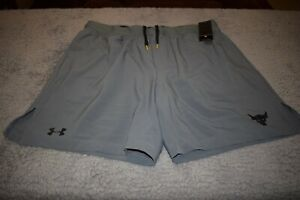 Under Armour Men's Project Rock Training Shorts 6070 Size XL (Mod Gray) NWT