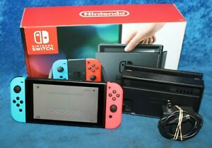 Nintendo Switch Console Black with Neon Blue and Neon Red Joy-Controller HAC-001