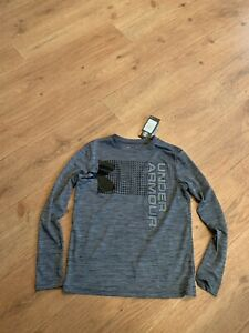 NWT Boys Under Armour UA Large Gray Long Sleeve Shirt - $30