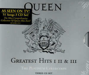 QUEEN Greatest Hits: I II & III: The Platinum Collection 3 CD Box Set New USA