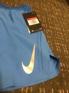 """*NEW WITH TAGS* NIKE AEROSWIFT 4"""" SHORTS MENS COLOR BLUE 892897-323 Large"""