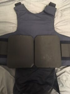 Point Blank Body Armor Bullet Proof Vest mens Size 54 L1 Level lllA,With Plates