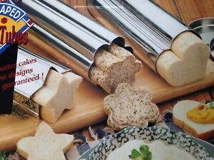 BAKING TUBES FUN SHAPED FOR BREAD OR CAKES STAR, FLOWER, HEART