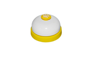 NEW PawPawz Pet Potty Training Bell for dogs, yellow & white