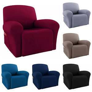 Waterproof Stretch Recliner Chair Slipcover Protector Sofa Cover w Side Pocket