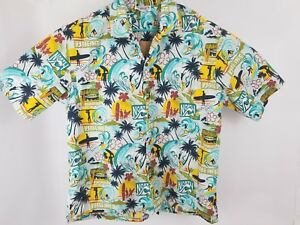 Vintage Pacific Legend Apparel Hawaiian Button Up  Great condition Surfer Beach