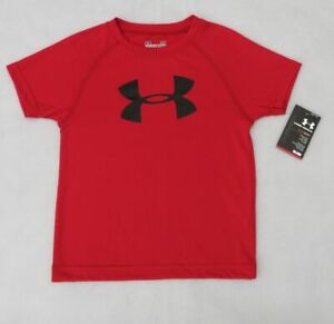 Under Armour Boys Toddler Red Short Sleeve Big Logo Shirt 2 T