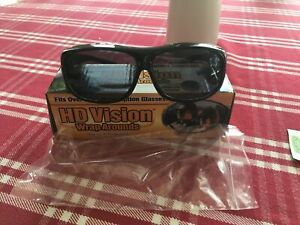 HD  Vision Driving Wrap Arounds Sunglasses Fits Over Glasses As Seen On TV US