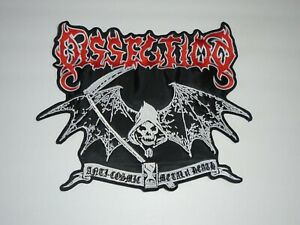 DISSECTION ANTI COSMIC METAL OF DEATH EMBROIDERED BACK PATCH $14.98
