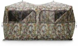 Ground Blind For Deer Hunting 6 Person Or ATV Camo Windows X LARGE Big Game NEW