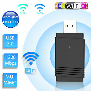 1200Mbps Dual Band Wireless USB 3.0 WiFi Adapter 2.4G&5G Bluetooth 5.0 Dongle