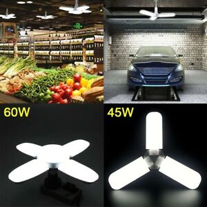 60W 45W Deformable LED Garage Lights E27 Shop Work Home Ceiling Fixture Lamp