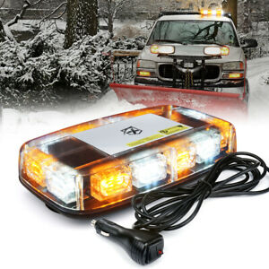 Xprite White Amber 36LED Rooftop Strobe Light Emergency Warning Flash Beacon 12V