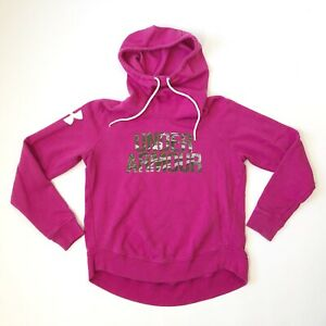 Under Armour Coldgear Hoodie Size Small Womens Loose Pink Camo