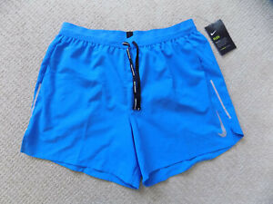 NEW NIKE MENS L FLEX STRIDE RUNNING SHORTS 5 inch 2 in 1 PHOTO BLUE AJ7777 435