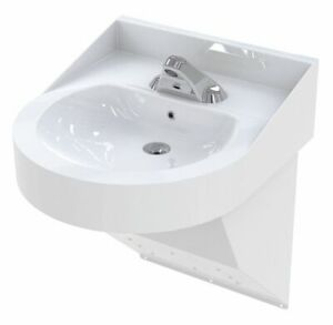 Bestcare Stainless Steel  Wall  Bathroom Sink  With Faucet  Bowl Size 15