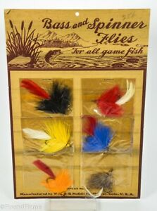 Wright amp; McGill Hand Made Flies Antique Fly Fishing Lure Dealer Display Card $40.00