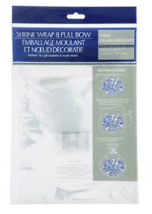 Lot 3 Shrink Wrap Gift Bag Clear Cellophane Baskets 24 x 30 EasterMothers Day
