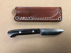 Bark River Knives Little Creek A2 steel black and red Micarta scales.