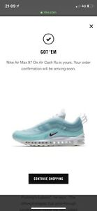 BNWB Nike Air Max 97 Kaleidoscope Shanghai Air Cash Ru Sz US 7 UK 6 EU 40 Men's