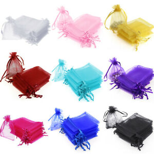 100 200 pcs Organza Wedding Party Favor Decoration Gift Candy Sheer Bags Pouches