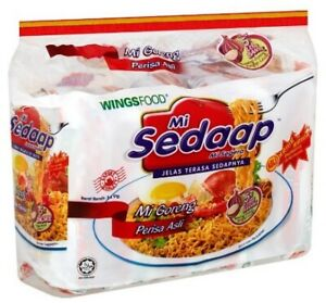 MI SEDAAP Fried Noodle - Original Flavour With Crunchy Fried Onions (5 x 91g)
