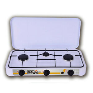 Cook Master Easy Gas Three Burner Propane Gas Outdoor Camping Stove