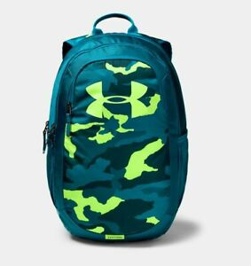NWT Under Armour Scrimmage Youth Boys Backpack 2.0 Camo Teal Rush Tandem Teal