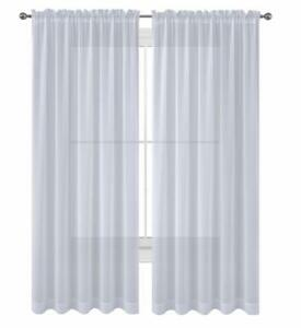 Sheer 2Pc Window Treatments Curtain Panels 84