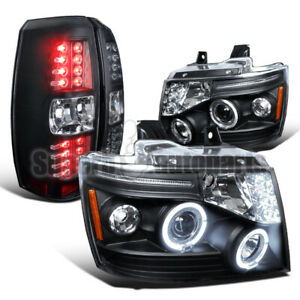 For 2007-2011 Avalanche Halo Projector Black Head+LED Smoke Tail Brake Lights