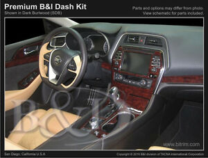 WOOD DASH KIT FOR NISSAN MAXIMA SMALL KIT FITS 2016 2021 $159.00
