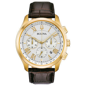 Bulova Men's Quartz Classic Collection Six Hand Chronograph 46.5mm Watch 97B169