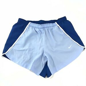 Nike Big Girls XL Dry Running Shorts Blue Dry Tempo Color Block Standard Fit New