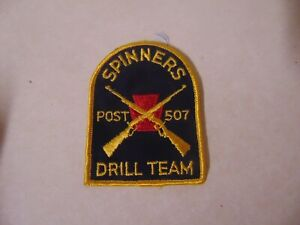 PATCH OLDER VINTAGE SPINNERS POST 507 DRILL TEAM 4 INCH SEW ON